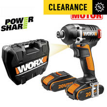 WORX Cordless Brushless Impact Driver with 2 20V Batteries