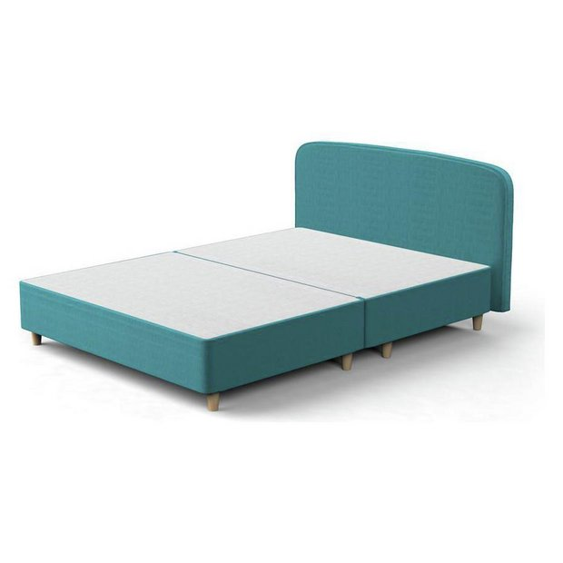 Buy Silentnight Studio Double Curved Bed Frame Teal At Your Online Shop For
