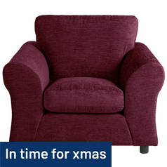 Argos Home New Clara Fabric Armchair - Plum