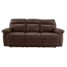 Argos Home Paolo 3 Seater Power Recliner Sofa - Brown