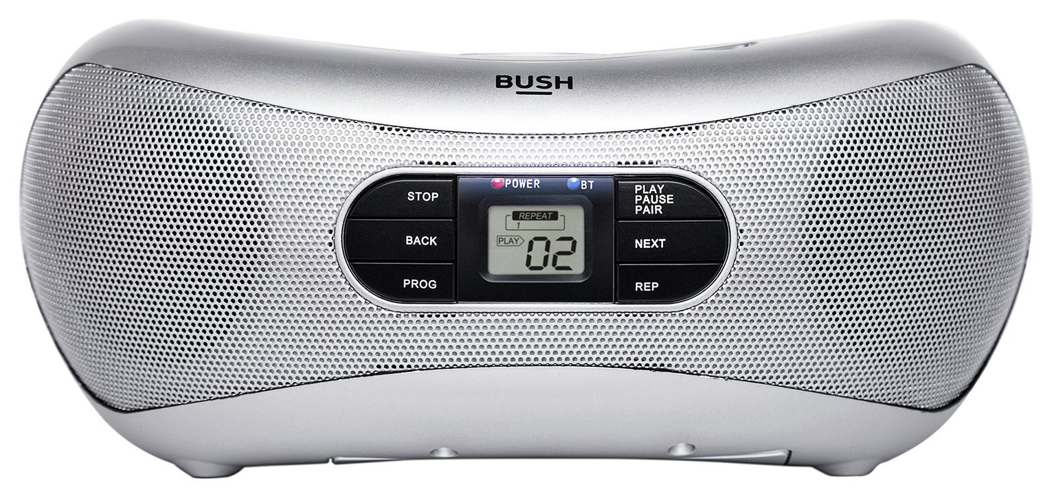 Bush Bluetooth Boombox - Silver Personal CD players and cassette | Argos