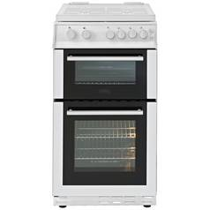 Belling FS50GTCL 50cm Twin Cavity Gas Cooker - White
