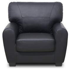 Argos Home Stefano Faux Leather Armchair - Black