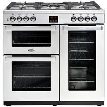Belling Cookcentre 90DFT 90cm Dual Fuel Range Cooker - SS