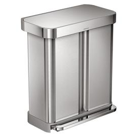 simplehuman 58L Recycler Bin - Stainless Steel