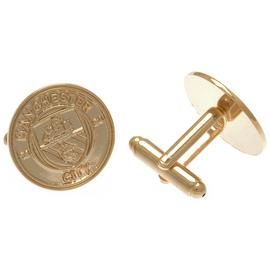 Gold Plated Manchester City Cufflinks