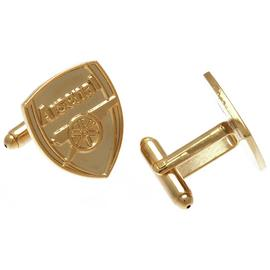 Gold Plated Arsenal Cufflinks.