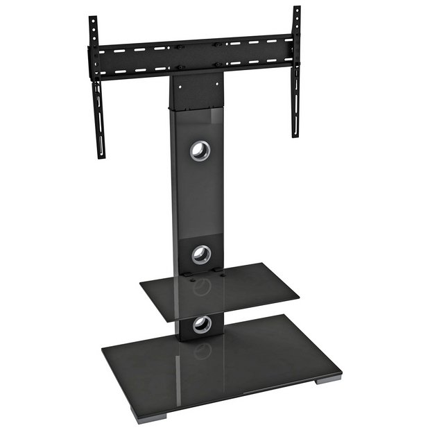 buy avf up to 65 inch combined tv stand black at argos. Black Bedroom Furniture Sets. Home Design Ideas