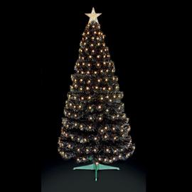 Premier Decorations 4ft Christmas Tree with LED Stars -Black