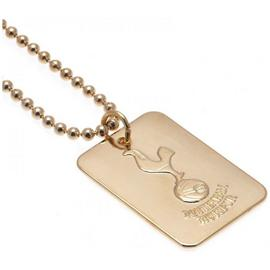 Gold Plated Tottenham Dog Tag & Ball Chain