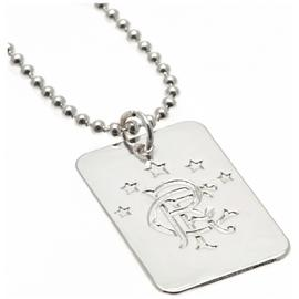 Silver Plated Rangers Dog Tag & Ball Chain.