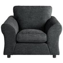 HOME New Clara Fabric Armchair - Charcoal