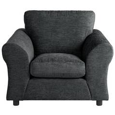 Argos Home New Clara Fabric Armchair - Charcoal