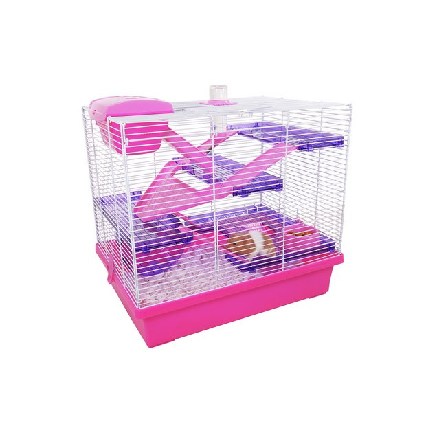 Buy Rosewood Pink Purple Pico Hamster Cage X Large Small Pet Habitats And Cages Argos