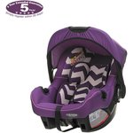 more details on OBaby Zeal ZigZag Car Seat - Purple.