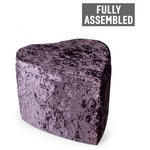 more details on Heart Crushed Velvet Ottoman - Amethyst.