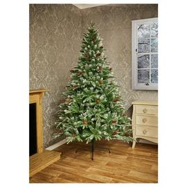 Premier Decorations 7ft Berry & Cone Christmas Tree - Green