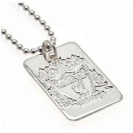 Silver Plated Liverpool Dog Tag & Ball Chain.