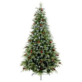 Premier Decorations 8ft Frosted Spruce Christmas Tree -Green