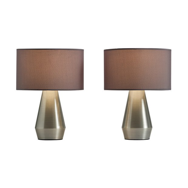 Buy Habitat Maya Pair Of Touch Table Lamps Grey Table Lamps Argos