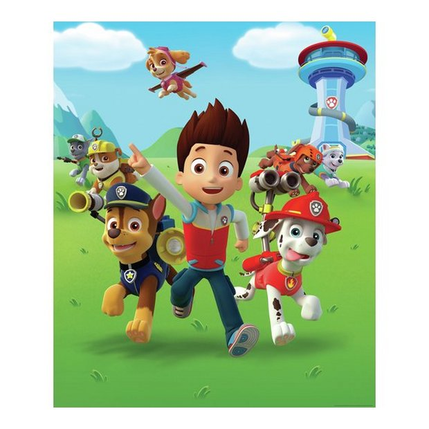 buy walltastic paw patrol wall mural | murals and wall stickers | argos