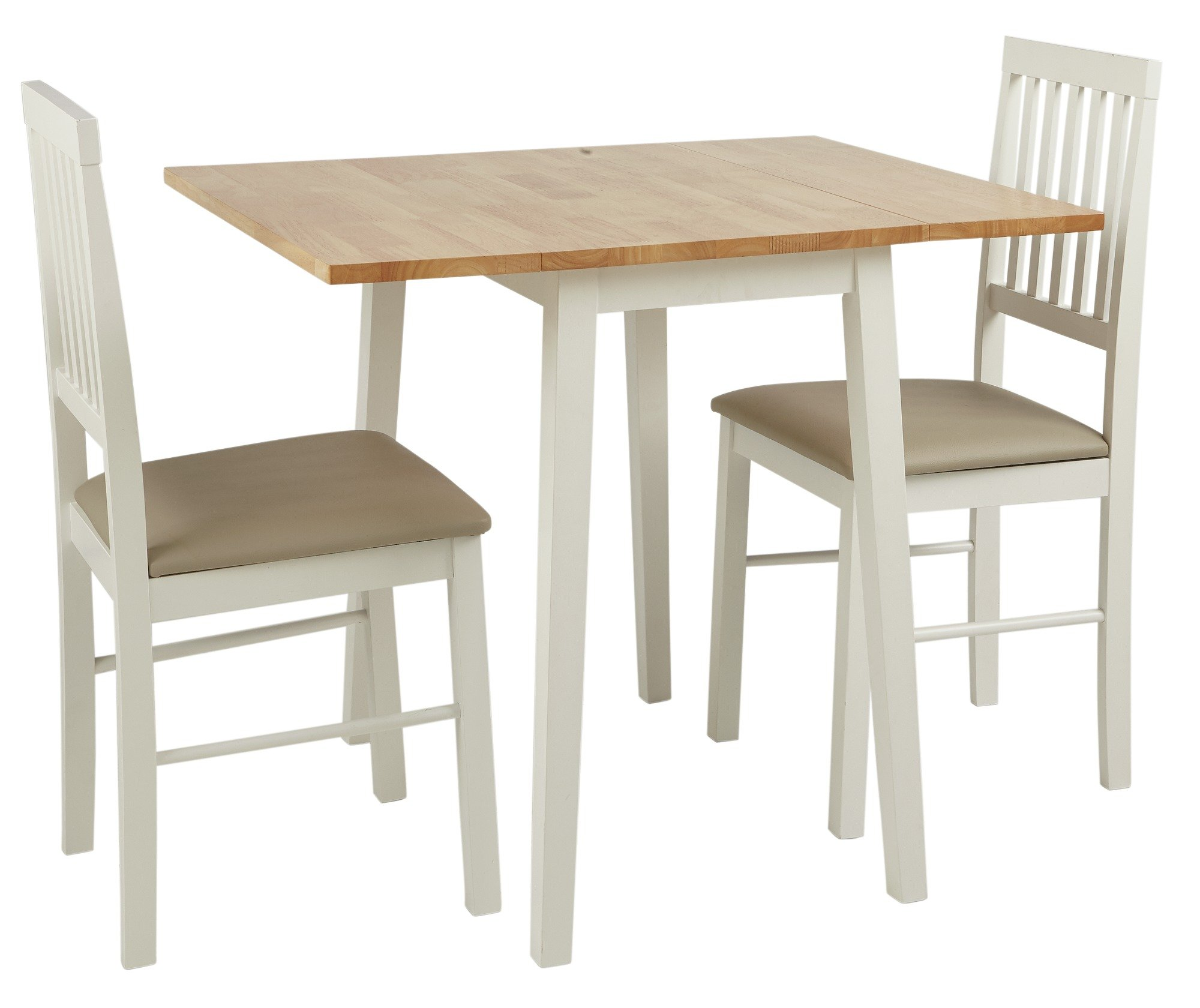 HOME Kendall Solid Wood Drop Leaf Table And 2 Chairs