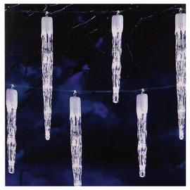 Premier Decorations 24 Chaser Icicle LED Lights - White.