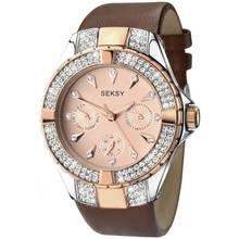 Seksy Ladies' Intense Rose Gold Plated Strap Watch