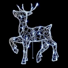 Premier Decorations Acrylic Standing LED Reindeer - White.