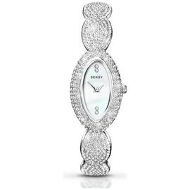 Seksy Ladies' Chrome Finish Bracelet Watch