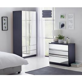 Argos Home Sandon 2 Door 2 Drawer Mirrored Wardrobe