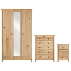 Argos Home Scandinavia 3 Piece 3 Door Wardrobe Set