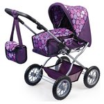 more details on Bayer Dolls Pram Combi Grande Purple Pattern.