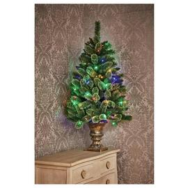 Premier Decorations 4ft Pre-Lit Pine Christmas Tree - Green