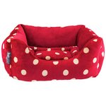 more details on Petface Small Plush Bed - Red & Cream.