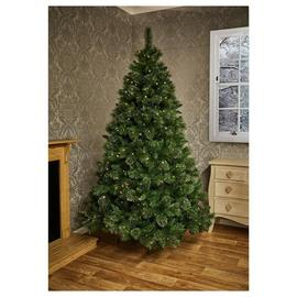 Premier Decorations 6ft Prelit Ridgemere Pine Christmas Tree