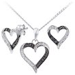 more details on Sterling Silver Black Diamond Earring Pendant Set.