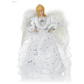 Angel Tree Topper - Silver and White