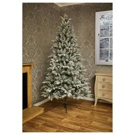 8ft Flocked Lapland Spruce Christmas Tree - Green