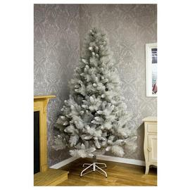 Premier Decorations 7ft Silver Tip Fir Christmas Tree - Grey