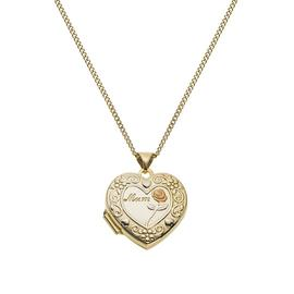 Moon & Back Silver Heart Mum 4 Photo Locket 18 Inch Necklace