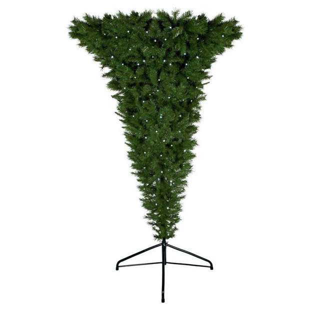 Upside Down Christmas Tree Decorating Ideas.Buy Premier Decorations 7ft Pre Lit Upside Down Christmas Tree Artificial Christmas Trees Argos