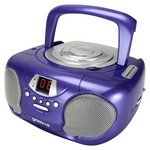 more details on Groov-e GVPS713/PE Boombox CD Player with Radio - Purple.