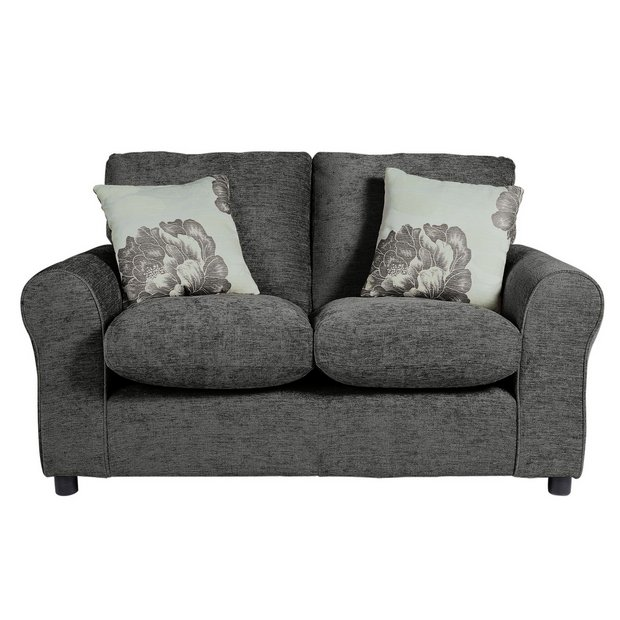 buy home tessa compact 2 seater fabric sofa charcoal at. Black Bedroom Furniture Sets. Home Design Ideas