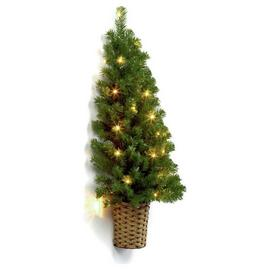 Premier Decorations 3ft Pre-lit Half Christmas Tree - Green