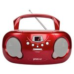 more details on Groov-e GVPS713/RD Boombox CD Player with Radio - Red.