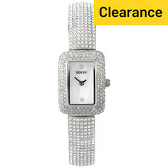 Seksy Ladies' Intense Chrome Finish Stone Set Bracelet Watch