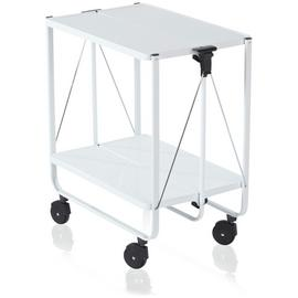 Leifheit Side Car Folding Trolley - White.