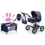 more details on Bayer Dolls Pram Combi Grande Pink Grey.