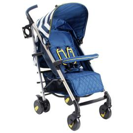 My Babiie MB51 Chevron Stroller - Blue